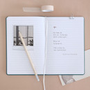 Usage example - Indigo Prism 200 hardcover lined notebook with elastic band