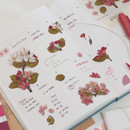 Usage example - Appree Apple blossom pressed flower sticker