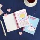 02 Sky Blue (essay) - ICONIC Doremi A6 size spiral bound notebook