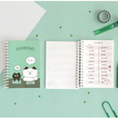 03 Mint (music paper) - ICONIC Doremi A6 size spiral bound notebook