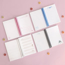 Variety pages - ICONIC Doremi A6 size spiral bound notebook