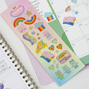 Rainbow - DESIGN GOMGOM Reeli gold line clear sticker