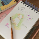Usage example - SOSOMOONGOO Sojak5 Happy hobby spiral blank sketch book