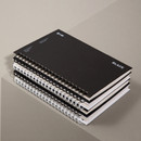 Ardium B+W wire bound hardcover lined notebook