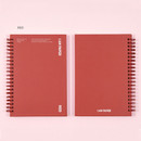 Red - Ardium I am Paper wire bound hardcover lined notebook