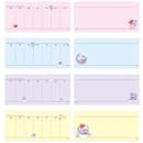 Inner paper - BT21 Dream baby wire bound dateless weekly desk planner