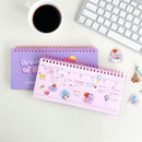Usage example - BT21 Dream baby wire bound dateless weekly desk planner