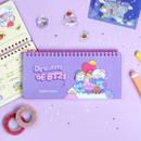 BT21 Dream baby wire bound dateless weekly desk planner