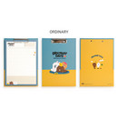 Ordinary - Monopoly Brown and friends A4 size clipboard notepad set