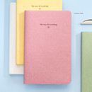 Classic Pink - Byfulldesign The way of recording grid notebook