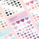 PLEPLE Love glitter removable deco sticker seal