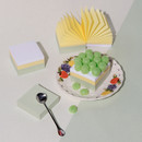 SOSOMOONGOO Green grape rice cake hanji paper memo notepad