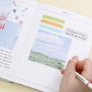Usage example - ICONIC Index sticky memo point bookmark set 05-12