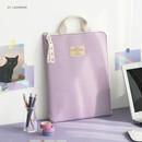01 Lavender -  ICONIC Cottony A4 laptop notebook zipper sleeve case
