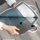 Inner pockets -  ICONIC Cottony A4 laptop notebook zipper sleeve case
