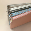 Zipper closure - Dash And Dot Be simple synthetic leather zipper pencil case
