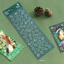 Pack of ICONIC Shining line clear removable sticker pack A