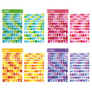 Comes with alphabet stickers - Basic 20 rings sticker organizer book with Alphabet stickers