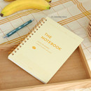 03 Banana milk - ICONIC Compact A5 wire bound grid notebook