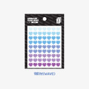 Wave - Heart small clear sticker set of 3 sheets