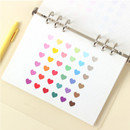 Heart small clear sticker set of 3 sheets