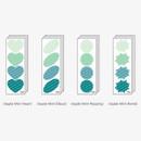 Apple mint - Big shape paper sticker set