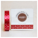 Flora silver red roll tape