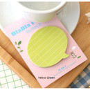 Yellow green - BlaBla bubble sticky notes