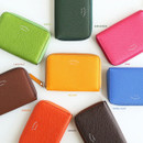 Colors of Leather zipper card pouch case