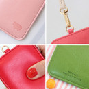 Detail view of Animal soft flat card holder