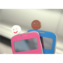 Front - Smile earphone dust plug clean cap
