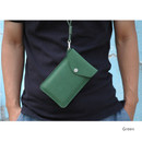 Green - Soft chamude smartphone strap pouch
