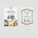 Front and Back - Vintage romantic label sticker set