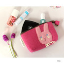 Pink - Hellogeeks cute bosong bosong small pouch