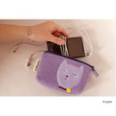 Purple - Hellogeeks cute bosong bosong small pouch