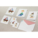 Composition of Drinky doll happy birthday card and envelope set