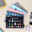 Ghost pop cute illustration zipper pouch M