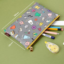 Size of Ghost pop cute illustration zipper pouch M
