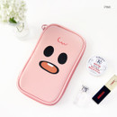 Pink - Ghost pop cute illustration pencil pouch