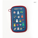 Navy - Ghost pop cute illustration pencil pouch
