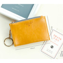 Size of Coin card zipper wallet holder with Key ring