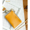 Yellow - Coin card zipper wallet holder with Key ring