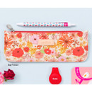 Day flower - Flower pattern slim zipper pencil case
