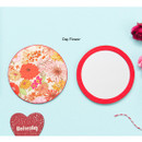Day flower - Flower pattern pocket round handy mirror