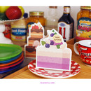 Blueberry cake - Holiday thank you message card