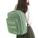 Olive green - Monopoly Vintage pattern easy carry backpack