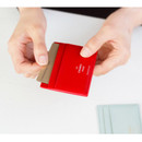 Red - La chance passe flat card holder case