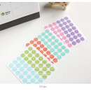 Stripe - Transparent circle deco sticker set
