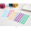 Solid - Transparent circle deco sticker set