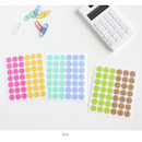 Dot - Transparent circle deco sticker set